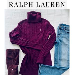Ralph Lauren cable knit turtle neck